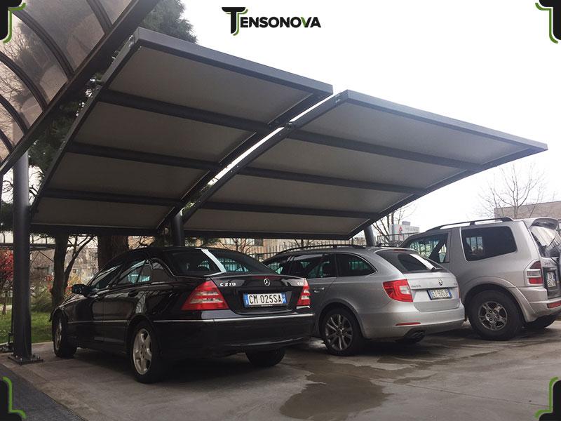 tettoie per auto in ferro