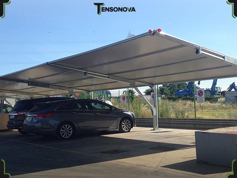 copertura parcheggio aziendale
