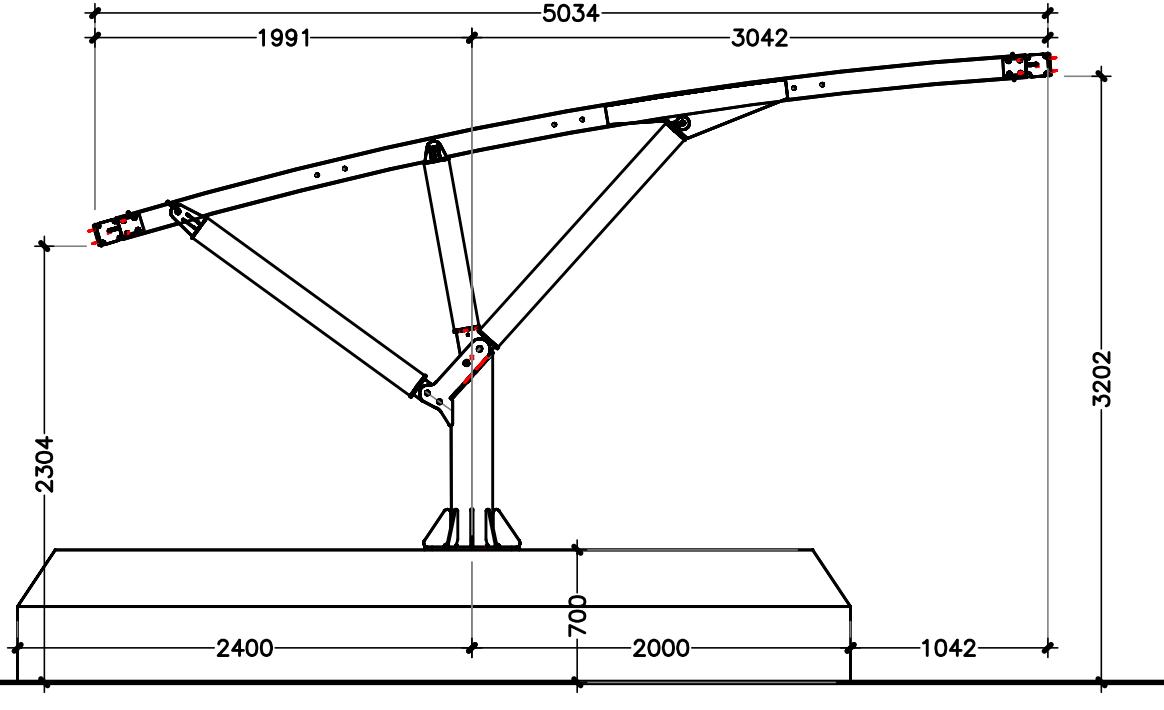 disegno progettuale pensiline per auto rimovibili