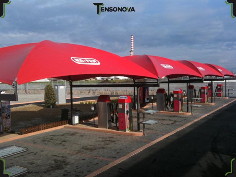 gazebo professionale stazione di servizio