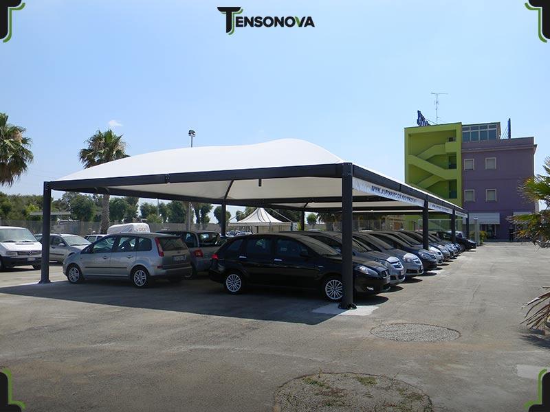 gazebi per parcheggi auto