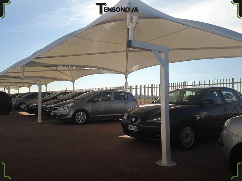 gazebo per parcheggio auto