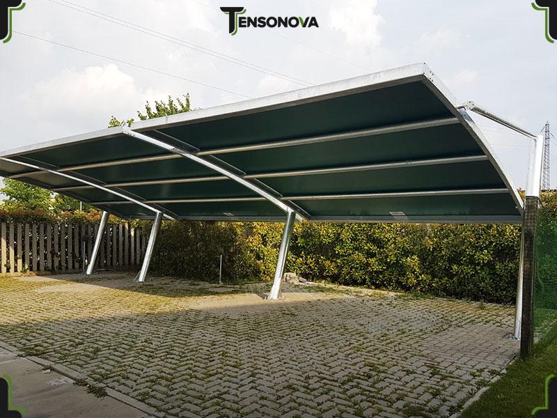 tettoia modulare parcheggio auto