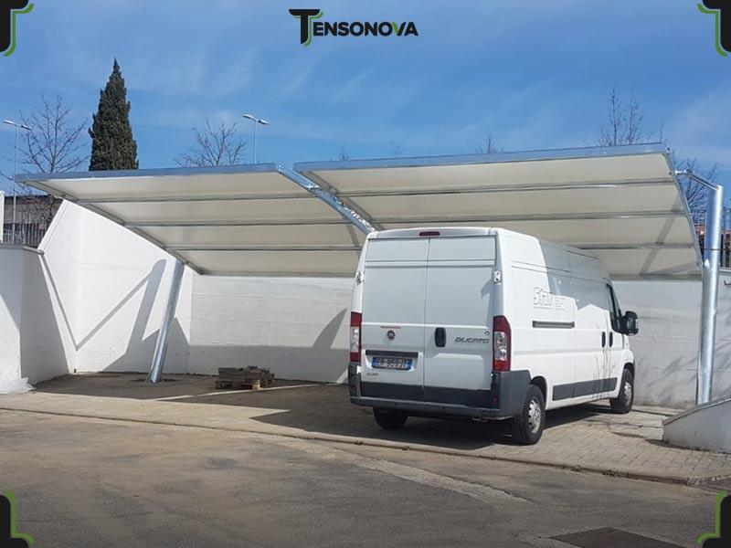 pensiline modulari parcheggi auto